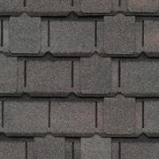 Close-up of GAF's Camelot Williamsburg Slate shingle swatch