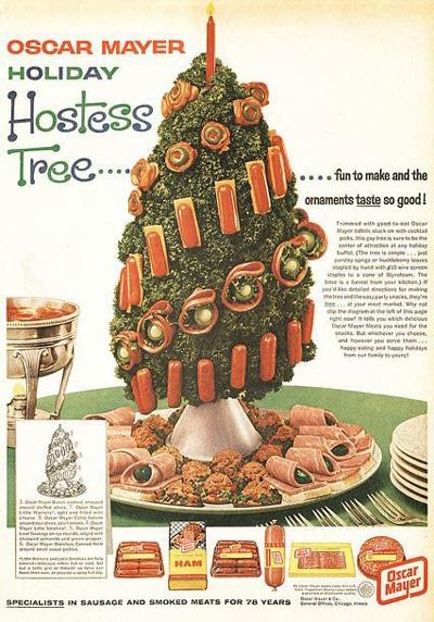 The Oscar Mayer Holiday Hostess Tree... fun to make and the ornaments taste so good! Ha... Really?